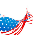 wave style american flag design vector image