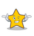 wink star character cartoon style vector image vector image