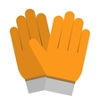 Yellow gloves hand protection vector image