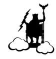 zeus jupiter god throne silhouette ancient vector image vector image