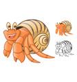 Hermit Crab vector image