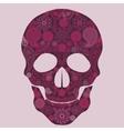 Floral skull Ornate vector image