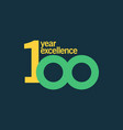 100 year excellence template design vector image vector image