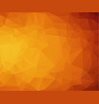 abstract dark orange polygonal pattern which vector image vector image