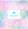 abstract triangle pattern on pastels color vector image
