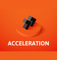 acceleration isometric icon isolated on color vector image