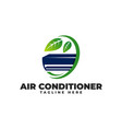 air conditioning natural fresh with leaf logo vector image vector image
