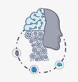 artificial intelligence design vector image vector image