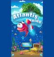 atlantis ruins - mobile format window vector image vector image