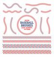 Baseball laces set baseball seam brushes red and
