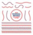 baseball laces set seam brushes red
