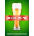 Beer menu poster or cover vector image vector image