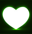 big glowing heart valentines day background vector image vector image