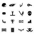 black hockey icon set vector image vector image