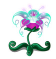 blooming fantasy flower isolated on white vector image vector image