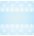 Blue background with lace border vector image vector image