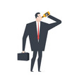 businessman drinks alcohol from bottle boss vector image vector image