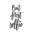 but furst selfie funny social media vector image
