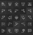cctv camera icons security camera signs vector image