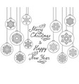 christmas background with handwritten greeting vector image vector image