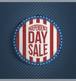 circle independence day sale realistic banner vector image vector image