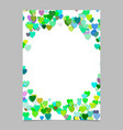Color random heart page background design - love