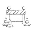 construction fence signal icon vector image