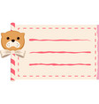 dog paper roll copy-space vector image vector image