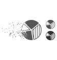 dust pixel halftone pie chart icon vector image vector image
