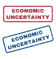 Economic Uncertainty Rubber Stamps vector image vector image