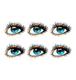 female eye set glare in the pupil vector image vector image