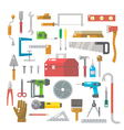 Flat design of wood work items set vector image vector image