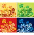 floral set vector image