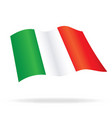 flying flag of italy vector image vector image