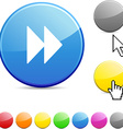 Forward glossy button vector image vector image