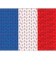 france brick wall vector image vector image