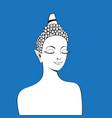 graphics a beautiful buddha portrait vector image