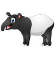happy tapir cartoon vector image