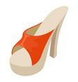 heeled sandal icon isometric style vector image vector image