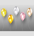 helium balloons flying multicolored glossy objects vector image