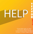 Help point icon symbol Flat modern web design with vector image