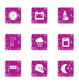 homestretch icons set grunge style vector image vector image