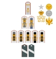 Insignia the Imperial Military Medical Academy vector image vector image