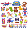 kids toys set toy kid child preschool house baby vector image vector image