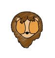 lion head wild cute animal vector image