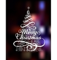 Magic Christmas Tree on abstract colorful vector image vector image