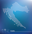 Map of Croatia vector image vector image
