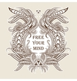 motivation free your mind in ethnic frame vector image