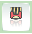 outline wrap with fried potato sticks icon Modern vector image
