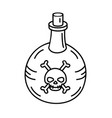 poison bottle icon doodle hand drawn or black vector image vector image